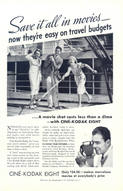 1936 Cine Kodak Eight Movie Camera shipmates playing print a