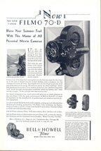 1930 Bell & Howell Filmo 70-D movie camera print ad - $10.00