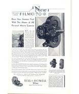 1930 Bell & Howell Filmo 70-D movie camera print ad - $10.00