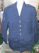 Vintage 1973 Vietnam Era Air Force Dress Blues Jacket One Owner Size 38 Small - $125.00