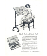 1924 Whitman's Sampler Chocolate girl needle sewing ad - $10.00