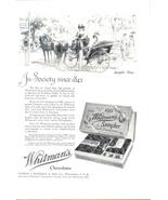 1923 Whitman's Sampler Chocolates sampler days print ad - $10.00
