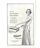 1923 Whitman's Chocolates WomanTennis Racket print ad - $10.00