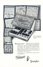 1928 Whitman's Sampler Chocolate framed background print ad - $10.00