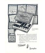 1928 Whitman's Sampler Chocolate framed background print ad - $10.00