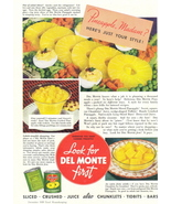 1938 Del Monte Sliced Pineapple canned fruits print ad - $10.00