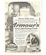 1938 Armour's Oval Label package foods print ad - $10.00