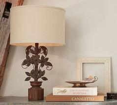 Pottery Barn Madeline Table Lamp Antique Bronze Leaf Leaves NIB - $88.00
