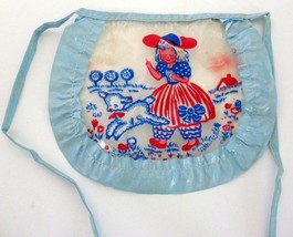 Vintage Soft Plastic Mary Had A Little Lamb Doll Bib Apron C.I. - $17.82