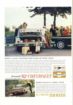 1962 Chevrolet Corvair Monza Chevy II Nova 2-page print ad - $10.00