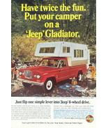 1966 GM Jeep Gladiator Camper Trailer Color print ad - $10.00