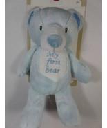 """New 10"""" Kelly Baby Boy's Plush Blue MY FIRST BEAR Lovey Teddy Bear RATTL... - $16.79"""
