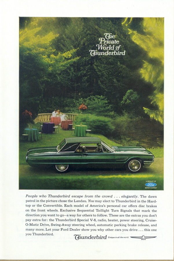 1965 Thunderbird Hardtop Landau dawn couple print ad
