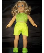 Handmade American Girl Clothes-Crop Top-Shorts and Clogs Set fits American Girl  - $20.00