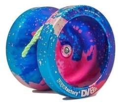 Galaxy Acid Blue Pink DV888 Responsive Metal Yo Yo YoYoFactory + 3 NEON ... - $29.99