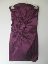 Jessica McClintock Women's Size 3 Purple Strapless Above Knee Dress - $20.80