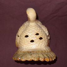 "Turkey Thanksgiving Tea Light Candle Holder 7"" Table Top Centerpiece Cream Color image 7"