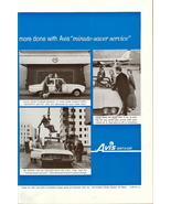 1960 Avis Rent-a-Car minute-saver service print ad - $10.00