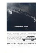 1964 Jeep Wagoneer Stop Running Scared Rain print ad - $10.00