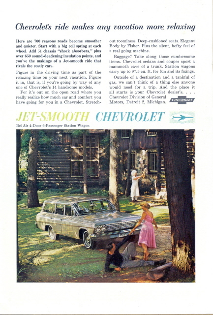 1962 Chevrolet Bel Air 4 door 6 passenger Wagon print ad