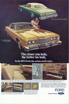 1963 Ford Galaxie 500 & LTD Brougham hardtop print ad - $10.00