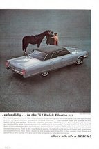 1964 Buick Electra 225 automobile couple horse print ad - $10.00