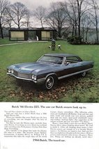 1966 Buick Electra 225 family countryside print ad - $10.00