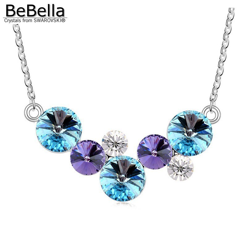 BeBella round bubbles pendant necklace with Crystals from Swarovski fashion crys image 3