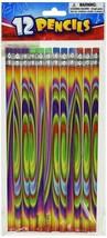 """Tie Dye Pencils (12 Pack) 7 1/2"""". Wood.  - $5.69"""