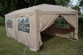 Pop Up Gazebo Large Canopy Garden Tent Steel Frame Waterproof Patio Part... - $292.59