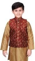 Boys Wedding Floral Printed Indian Sleeveless Waistcoat Only 011 UK - $24.84