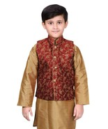 Boys Wedding Floral Printed Indian Sleeveless Waistcoat Only 011 UK - $25.15