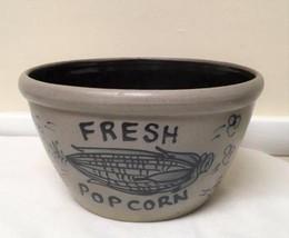 """1992 Rowe Pottery Works Salt Glazed 9"""" Popcorn Bowl - $64.34"""