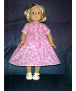 American Girl Clothes-Handmade Summer Dress fits American Girl Doll-Pink Daisies - $15.00