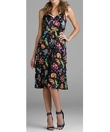 NWT BETSEY JOHNSON Black Tattoo Print Slip Dress Size 2 NEW (MAKE AN OFFER) - $187.85