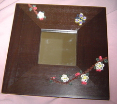 Apple Blossom and Butterfly Mirror Handcrafted Paper Quill New - $44.99