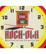 Rock-Ola Music RMC Jukebox Red Neon Clock Hand Made USA 20 Inch Game Roo... - $277.08