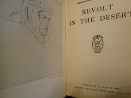 Revolt in the Desert by TE Lawrence - 1926-1927 Hardbound - $13.95