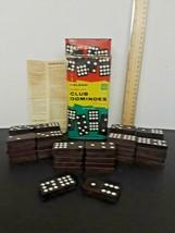 Vintage Halsam Double Nine Club Dominoes Original box Set Number 200 USA - $2.97