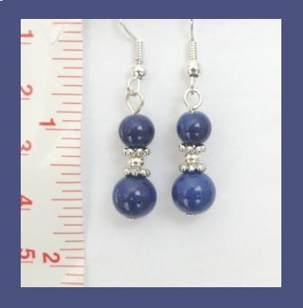 Navy Blue Gemstone Earrings