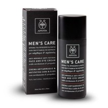 Apivita Men's Care Anti Wrinkle Face & Eye Cream Dark Circles & Puffiness 50ml - $43.01
