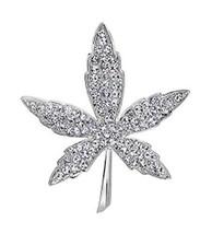 Maple Crystal Brooch Men&Women Brooch Sweater Pins Suit Accessories Badges