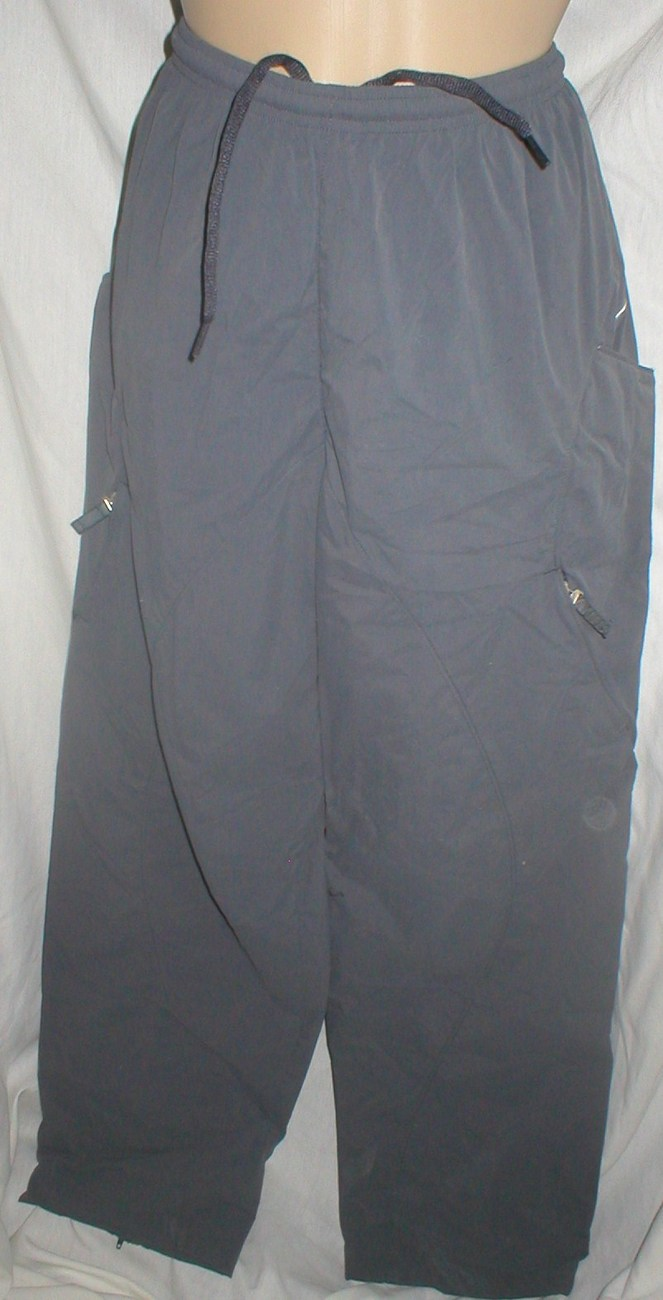 Nike Gray nylon windbreaker sport athletic workout pants M Medium