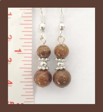Mixed Browns Gemstone Earrings