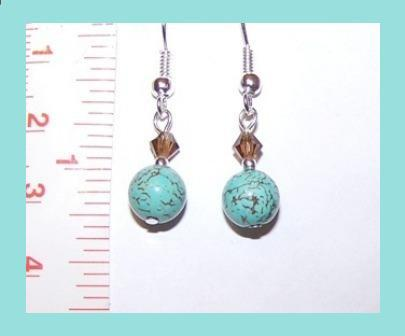 Turquoise & Swarovski Crystal Earrings