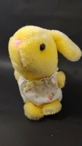 Russ Bumbles vintage yellow bunny rabbit Plush floral outfit Made Korea ... - $14.84