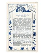 Horoscope Arcade Vending Card 1929 Witch Bats Owls Fortune Teller Aug. 1... - $14.99
