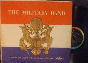 The Military Band - A Hi-Fi Salute to the Services - Capitol Records W-1056