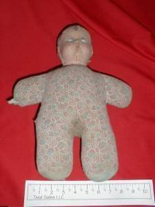 1940's Doll with Cloth Body and Composition Head