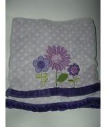 Carters Kidsline Purple Baby Blanket Flowers Floral White Polka Dot - $39.59